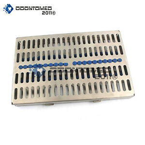 Dental Sterilization Cassette 11 X 7 Rack Tray Box For 20 Surgical Instruments