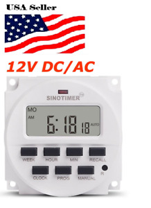 12v Dc Sinotimer Display Tm618h 4 Lcd Digital Timer Programmable Time Switch
