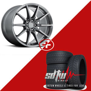 19 Mrr M350 Staggered Matte Graphite Wheels W Tires Rims Fits Ford Mustang 20