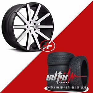 22 Dub S121 Shot Caller Wheels Tires Fits Bmw Mercedes Dodge Porsche Jaguar