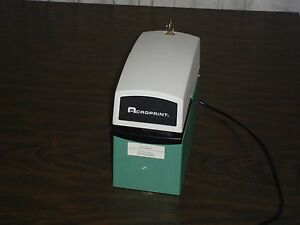 Acroprint Et W upper Plate Time Date Electronic Document Stamp As Is