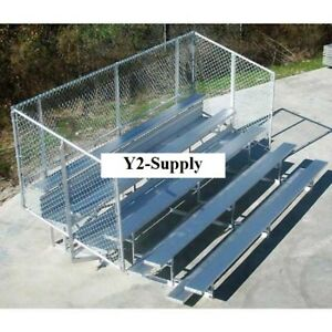 New 4 Row National Rep Aluminum Bleacher With Guard Rail 9 Wide