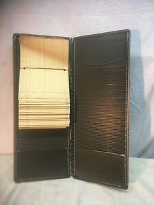 Vintage Metal And Brass Receipt File Card Holder