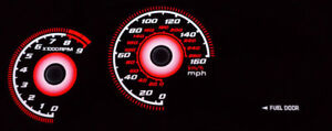 Red Glow 00 05 Toyota Celica Gt S Gts Manual Gauge Face Overlay New