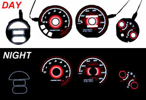 Red Glow 93 97 Honda Del Sol Si 130mph Gauge Face Overlay Delsol Jdm