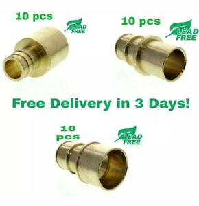 Uponor wirsbo 1 Propex Brass Sweat Adapters 30 Pieces 10 Each