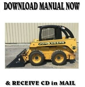 John Deere Skid Steer Loader 240 250 Service Repair Manual On Cd