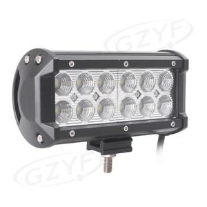 7in 36w Led Car Work Light Bar Flood Beam For Suv Boat Driving Offroad Atv Lamp