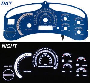 Escalade Style Blue Face Glow Gauge For 99 02 Chevy Tahoe Suburban Silverado