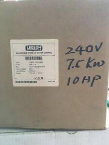 Leeson Adjustable Speed Ac Motor Control Type 174662 00xx1b43 10hp 240v 3p New