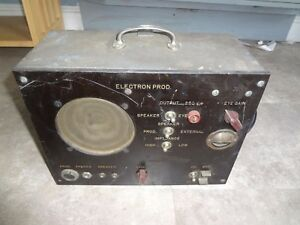 Vintage Rare Military Electron Prod Tube Tester Untested
