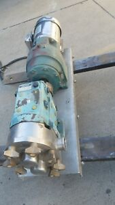 Waukesha Rotary Positive Displacement Pump Model 030 316 Stainless Steel 1 Hp