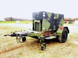Caterpillar 100kw Generator On Trailer With Only 2660 Hours