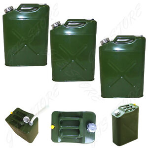 3 5 Gal 20l Eu Gas Gasoline Fuel Army Jerry Can Military Metal Steel Tank Backup