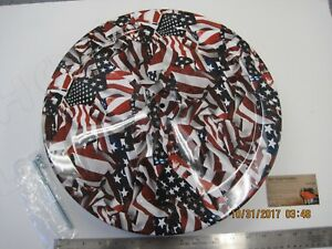 1965 1985 Chevy Ford Mopar 14 x3 Round Muscle Car Air Cleaner Assembly Us Flag