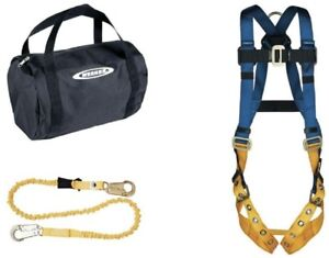 Work Safety Roofing Up Gear Aerial Kit With Basewear Std Harness And 6ft Lanyard