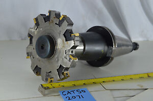 Disc Milling Cutter Slot Mill 6 With Parlec Cat50 Shank Tool Holder Arbor