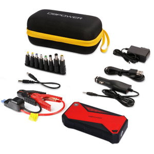 Portable Car Booster Starter Vehicle Jump Cables 18000mah Phone Charger 8 In 1