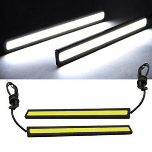 Car Daytime Running Light Cob Led Dc 12v Drl Auto Driving Fog Strip Lamp 17cm