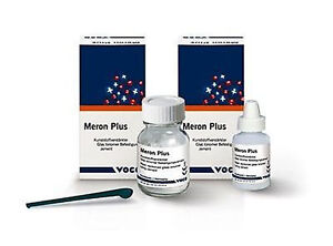 3 X Meron Plus Universal Resin Reinforced Glass Ionomer Luting Cement Dental