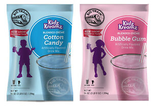Big Train Kidz Kreamz Bubble Gum Cotton Candy Smoothie Mix 2 X 3 5 Lbs