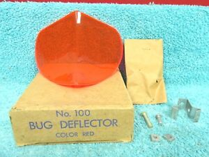 Vintage Ford Chevy Dodge Rat Rod Red Bug Deflector Nos 1017