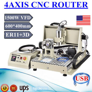 Usb 6040 1500w 4axis Cnc Router Engraver Woodworking 3d Carving Machine Mach3