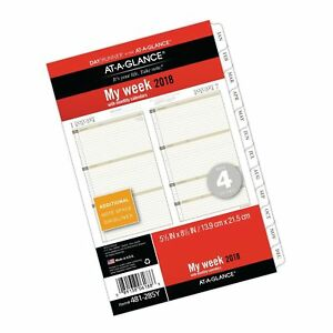 At a glance Day Runner Weekly Monthly Planner Refill January 2018 Decembe