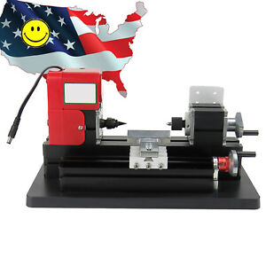 2017 Usa Portable Mini Metal Lathe Machine Saw Combined Tool Diy Wood 20000rpm