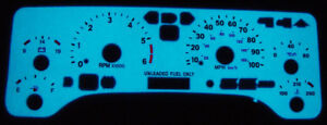 Free Ship 1997 2006 Jeep Wrangler Tj Glow Gauge Face Overlay Unlimited Rubico