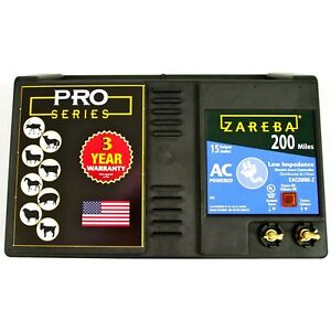 Zareba Eac200m z Ac powered Low impedance 200 mile range Charger W Free Stor