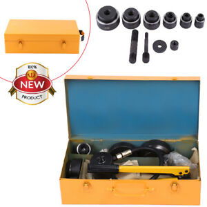 15ton 10 Die 16 101mm Hydraulic Knockout Punch Driver Kit Hole Hand Tool Conduit