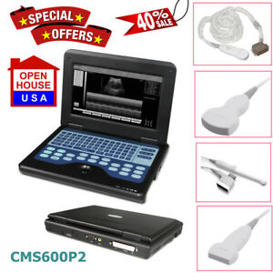 Us Fedex digital Ultrasound Scanner Portable Laptop Machine 2 Probes 2y Warranty