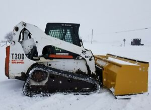 2005 Bobcat T300 Track Skid Steer Loader Diesel Track Heat ac Snow Pusher