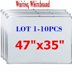 Lot 1 10 47 x35 Single Side Magnetic Writing Whiteboard Dry Erase Board Office