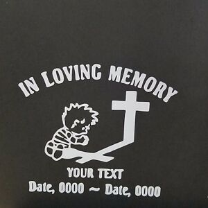 In Loving Memory Custom Decal Vinyl Decal For Laptop Windows Wall Car Boat D