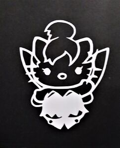 Hello Kitty Tinkerbell Vinyl Decal For Laptop Windows Wall Car Boat