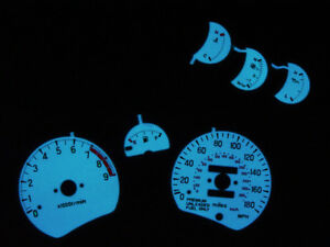 Free Ship 91 99 Mitsubishi 3000gt Vr4 Turbo 6 Pieces Glow Gauge Face Overlay Gto