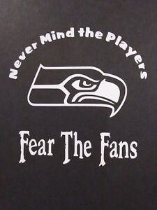 Fear The Fans Seahawks Vinyl Decal For Laptop Windows Wall Car Boat