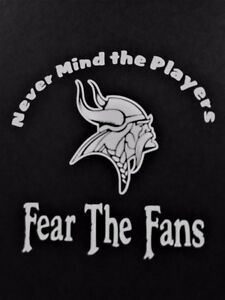 Fear The Fans Vikings Vinyl Decal For Laptop Windows Wall Car Boat