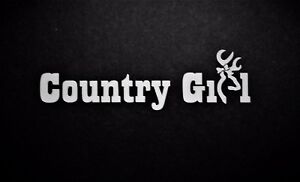 Country Girl Vinyl Decal For Laptop Windows Wall Car Boat