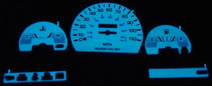 Free Ship 91 95 Toyota Pickup Truck Blue Green Glow Gauges 92 93 94 2wd