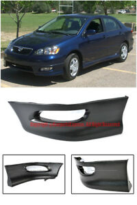 For 05 08 Toyota Corolla S Style Left Side Front Bumper Lower Lip Spoiler Wing