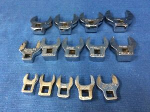 Snap On 14 Piece Crows Feet 3 8 Inch Drive Open End Standard Set 7 16 1 1 4 Inch