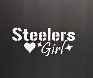 Pittsburg Steelers Girl Vinyl Decal For Laptop Windows Wall Car Boat
