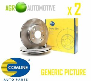 Comline Front Brake Discs Set Braking Discs Pair Oe Replacement Adc1623v