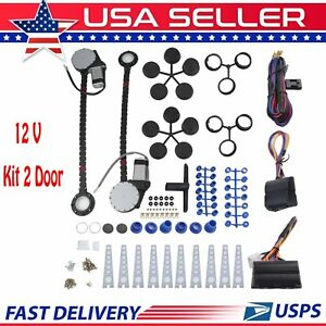 New Lectric Car Truck Power Window 2 Door Conversion Kit Switches Universal Bt