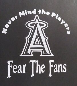 Fear The Fans Angels Vinyl Decal For Laptop Windows Wall Car Boat