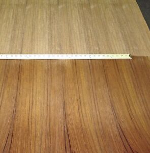 Teak Quarter Wood Veneer 48 X 96 With Paper Backer 1 40th Thickness a Grade
