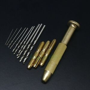 5 set Copper Rotary Handle Micro Precision Drill Bit Set Tool For Jewelry Pcb